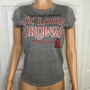 St. Louis Cardinals Gray Sparkling T-Shit